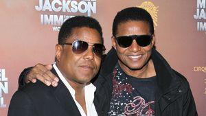Tito und Jackie Jackson bei einer Premiere
