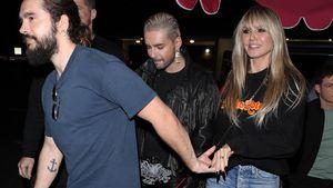 Größtes Groupie: Heidi Klum strahlt im Tokio-Hotel-Hoodie