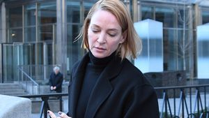 Uma Thurman auf dem Weg ins Gericht in New York