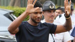Ausgefuchst: Usher besticht einen Cop mit Selfie!