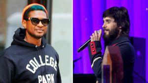 Usher  und Jared Leto