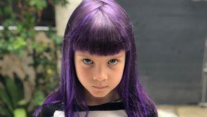 Wild wie Mama: Pinks Tochter Willow (6) hat jetzt lila Haare