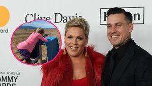Krasse Bilder: Hier sieht man Pinks Kinder beim Schießen!