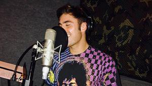 Zac Efron bei Musikaufnahmen