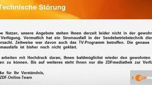 ZDF: Peinlicher Totalausfall am Montagabend!