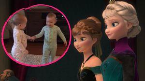 """US-amerikanische Zwillinge spielen Szenen aus dem Disney-Hit """"Frozen"""" nach"""