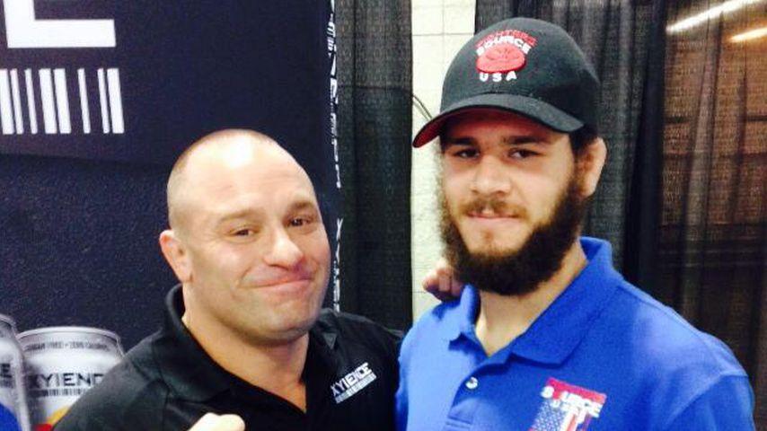 Aaron Rajman (r.) mit dem ehemaligen MMA-Champion Matt Serra