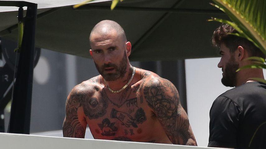 Adam Levine in Miami Beach