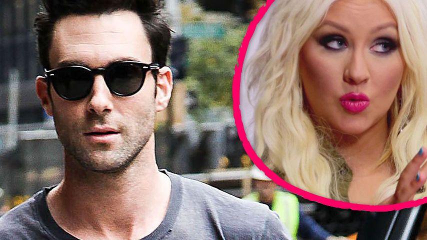 Adam Levine: Nennt Christina Aguilera nicht fett!