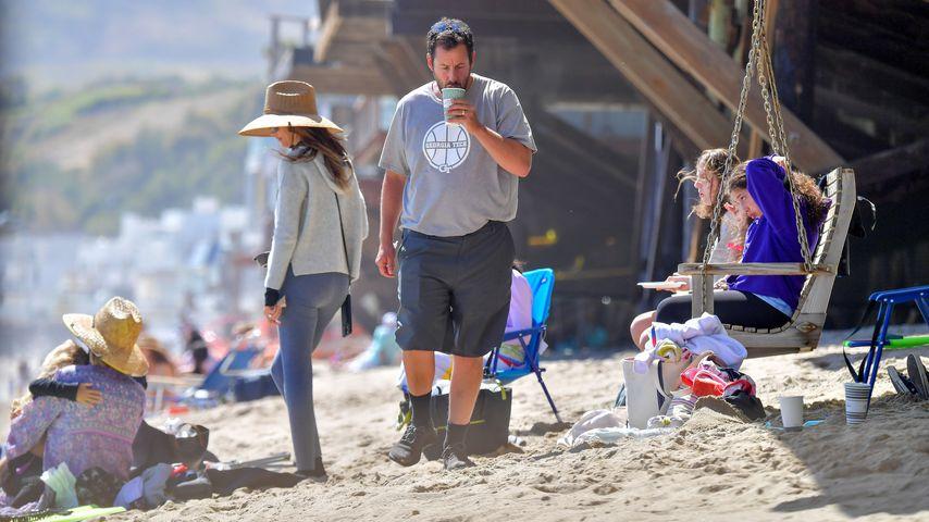 Adam Sandler mit seiner Familie