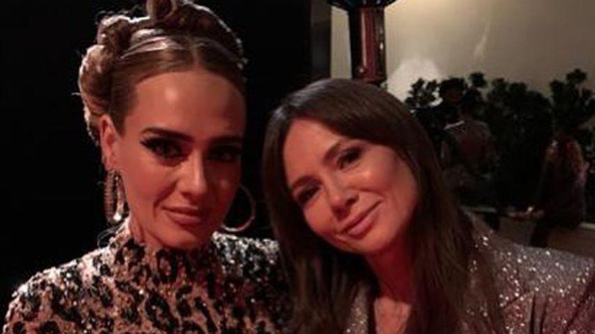 Adele mit Kinga Rusin auf der Oscar-Afterparty 2020