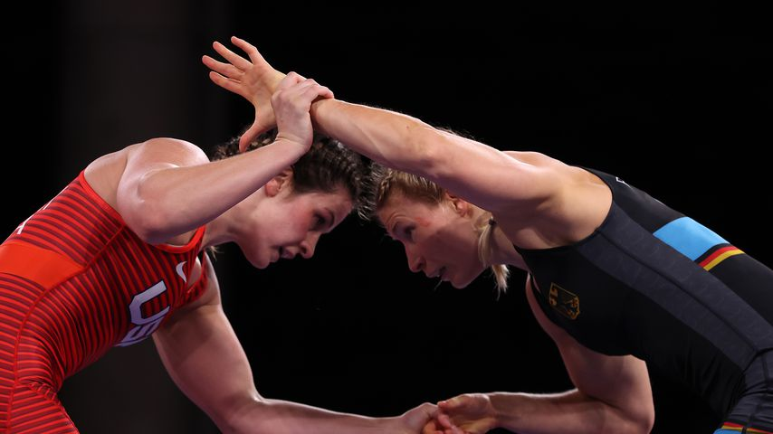 Adeline Maria Gray und Aline Rotter-Focken beim Finale von Olympia 2020
