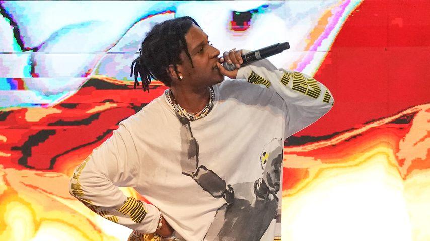 A$AP Rocky während eines Konzerts in Singapur