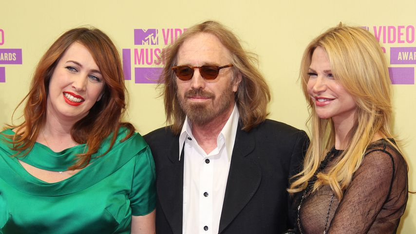 Adria Petty, Tom Petty und Dana York bei den MTV Video Music Awards 2012
