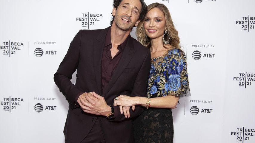 Adrien Brody und Georgina Chapman, Juni 2021
