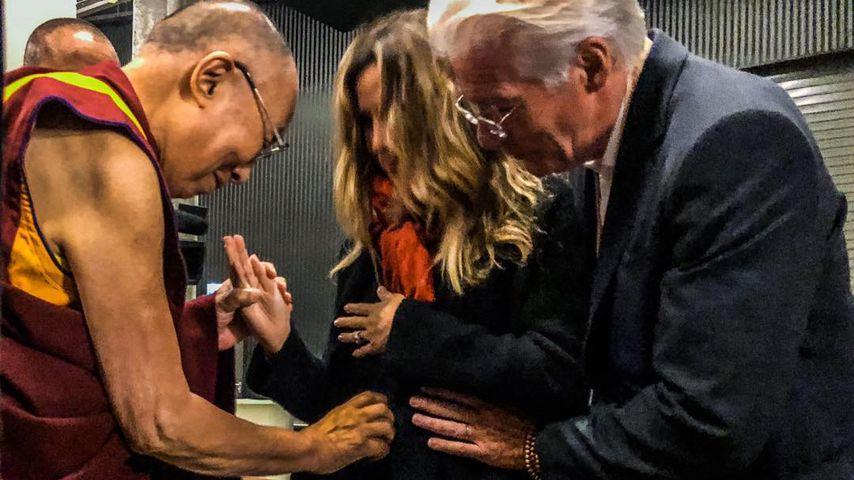 Alejandra und Richard Gere beim Dalai Lama