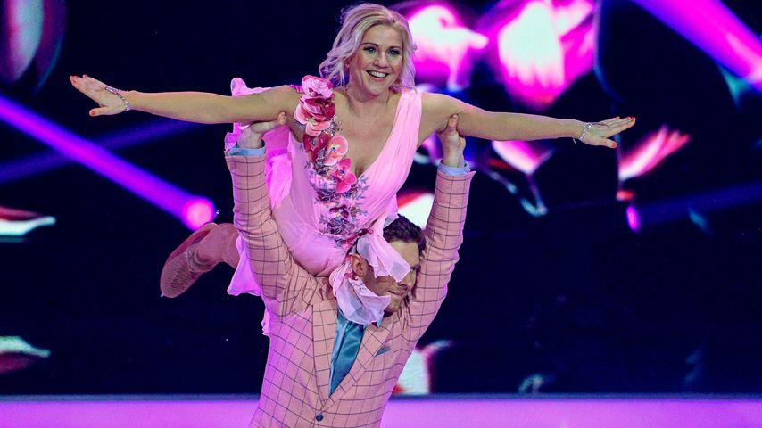 """Dancing on Ice""-Kandidatin Aleksandra Bechtel und Eiskunstläufer Matti Landgraf"