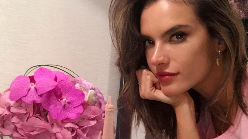 Victoria's Secret Model Alessandra Ambrosio in Paris