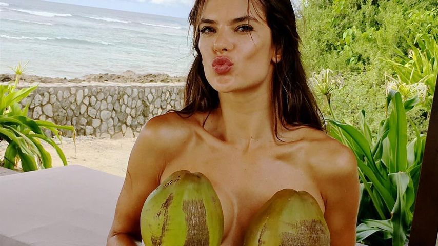 Kokosnuss-Bikini: Alessandra Ambrosio als heiße Strand-Nixe