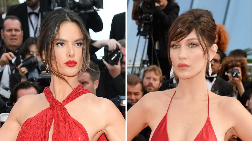 Hot! Alessandra Ambrosio im feurigen Look wie Bella Hadid