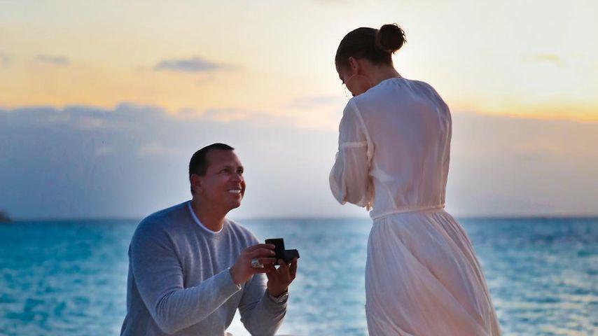 Erste Bilder von A-Rods Heiratsantrag an Jennifer Lopez!
