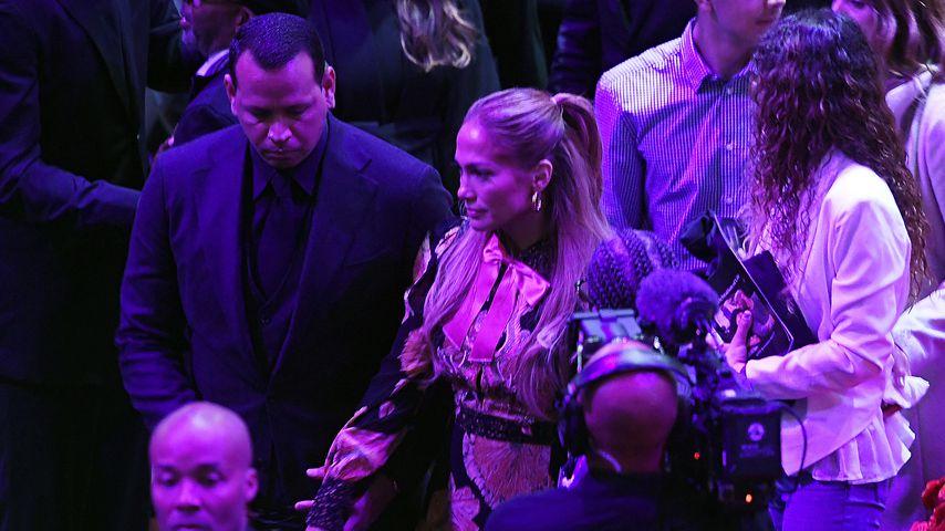 Alex Rodriguez und Jennifer Lopez bei Kobe Bryants Trauerfeier in L.A. im Februar 2020