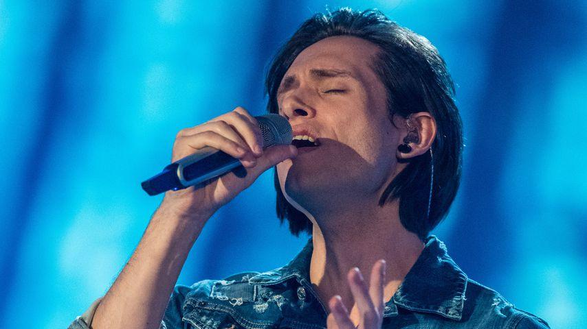 Alexander Jahnke während der zweiten Live-Show von DSDS