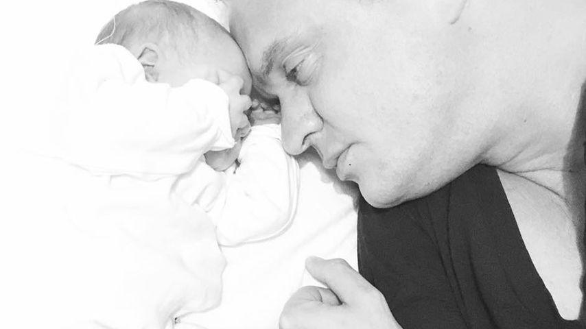 Alexander Posth mit seiner Tochter Penelope