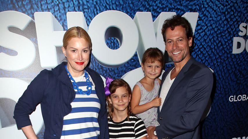 Alice Evans und Ioan Gruffudd mit ihren Töchtern