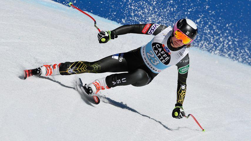 Alice Merryweather beim Ski World Cup in der Schweiz im Februar 2020