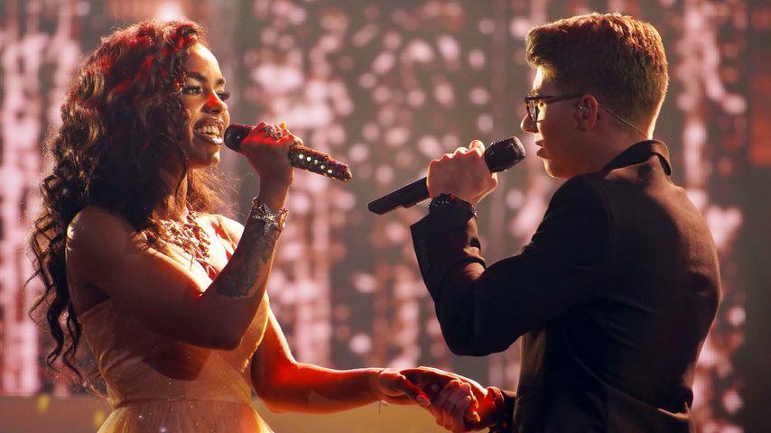 Alicia-Awa Beissert und Davin Herbrüggen im April 2019 beim Duett