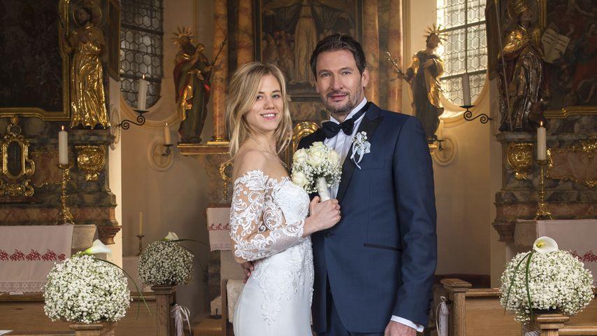 """Alicia Lindbergh (Larissa Marolt) und Christoph Saalfeld (Dieter Bach) bei """"Sturm der Liebe"""""""