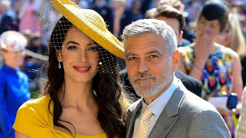 Amal und George Clooney auf der Hochzeit von Harry und Meghan, 2018