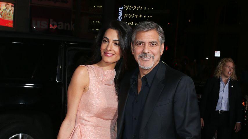 Amal und George Clooney auf dem Red Carpet