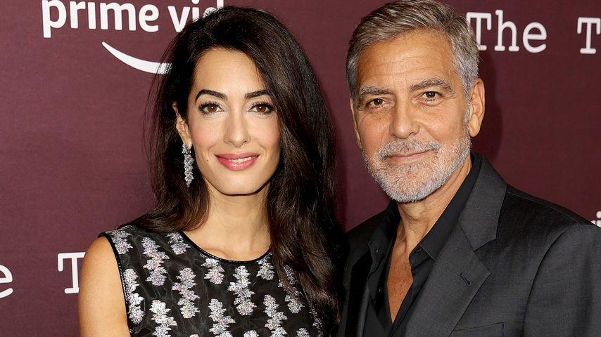 """Amal und George Clooney bei der Premiere von """"The Tender Bar"""" in Los Angeles, Oktober 2021"""