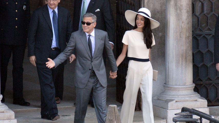 George Clooney und Amal Alamuddin nach ihrer Hochzeit