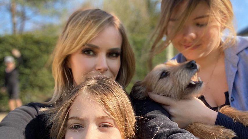 Amanda Holden mit ihren beiden Töchtern