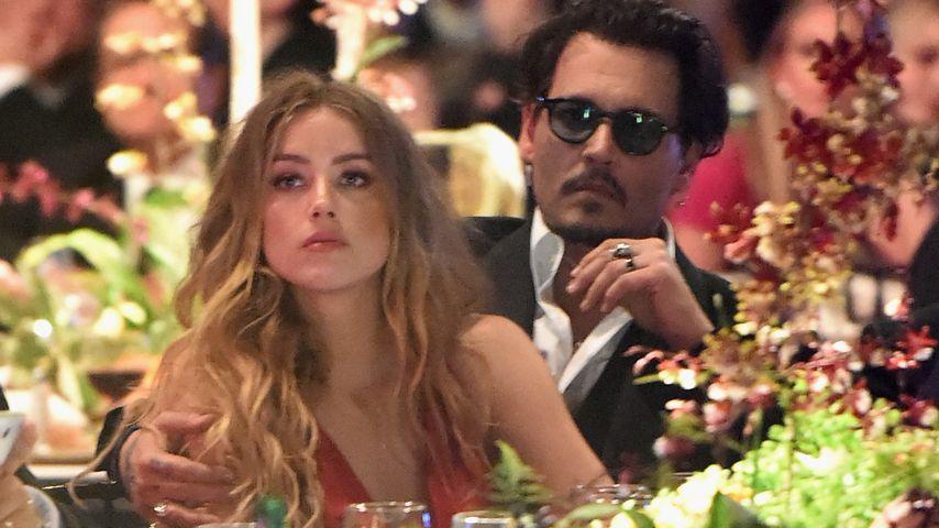 Blaues Auge! Johnny Depp soll Amber Heard verprügelt haben