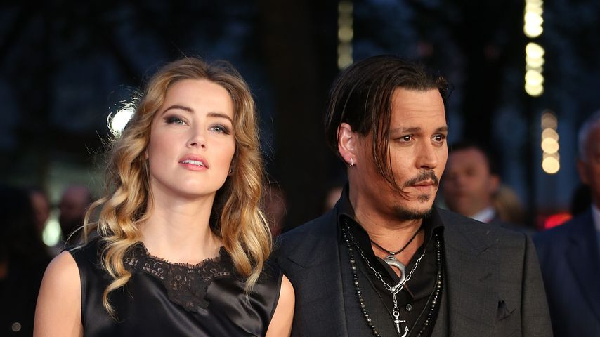 Amber Heard und Johnny Depp bei einer Filmpremiere in London