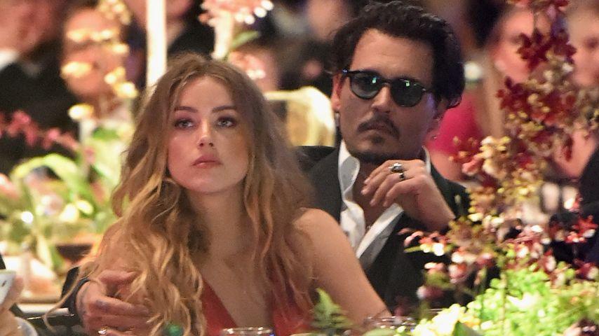 Amber Heard und Johnny Depp zusammen bei einer Gala