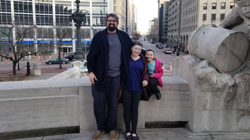 Amber Portwood mit ihrem Freund Andrew und ihrer Tochter Leah