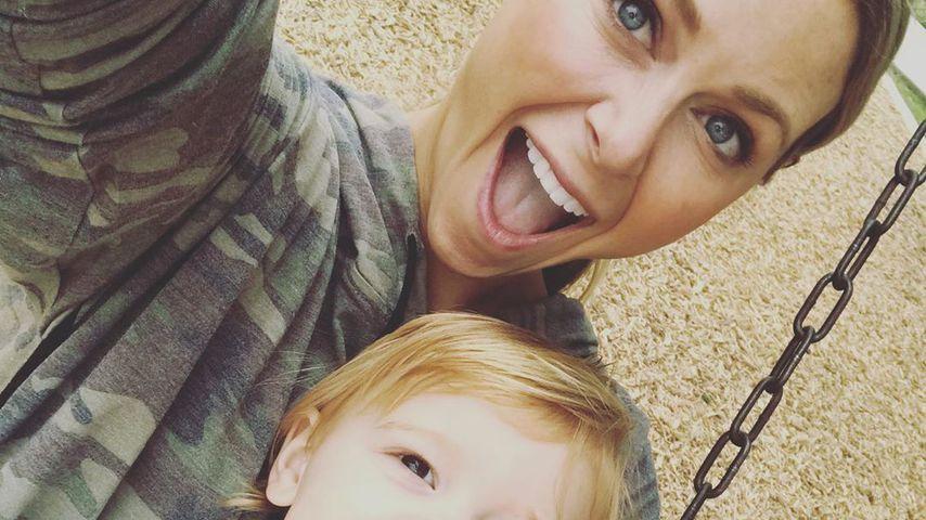 Amber Smith und ihr Sohn River
