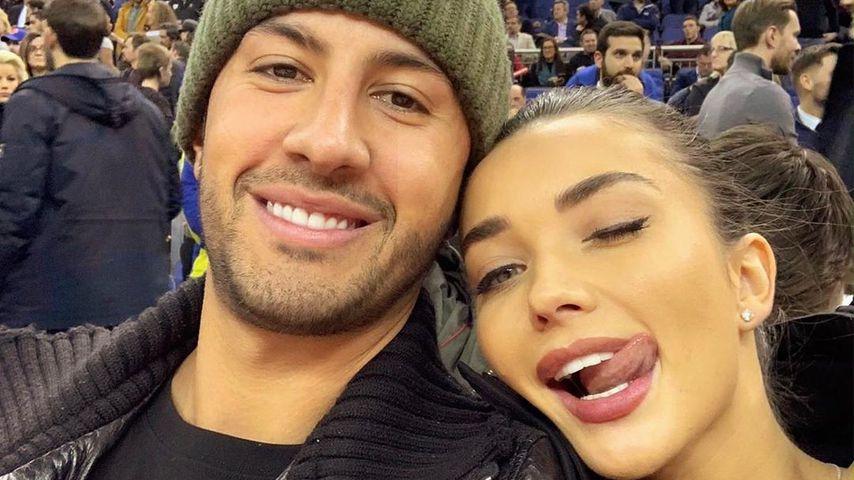 Amy Jackson mit ihrem Verlobten George, September 2019