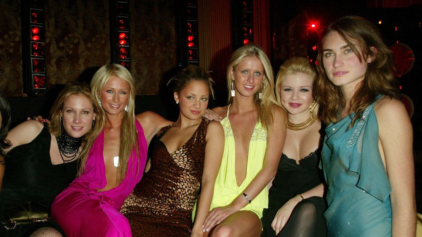Amy Sacco, Paris Hilton, Nicky Hilton, Nicole Richie, Casey Johnson und Lauren Bush, 2003