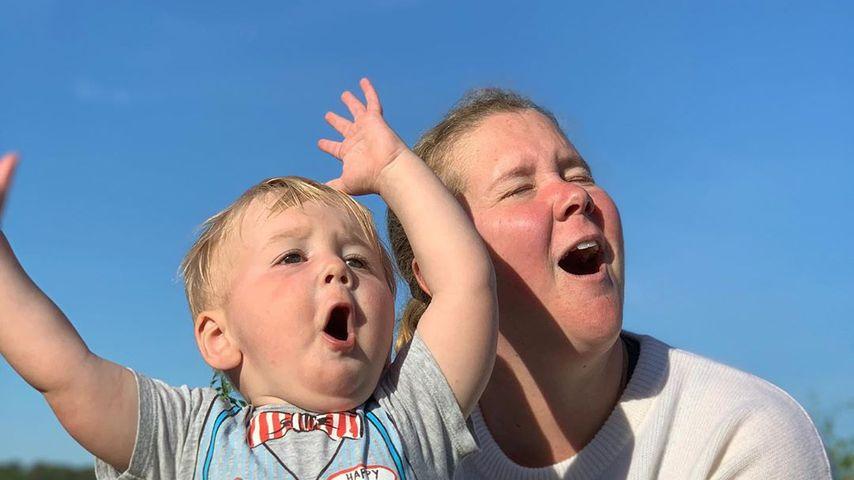 Amy Schumer mit ihrem Sohn Gene David