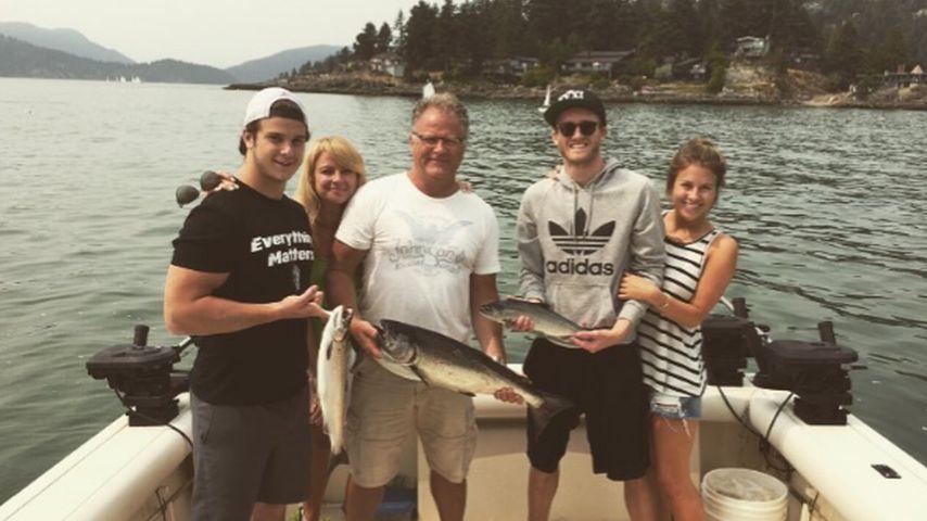 André Schürrle mit Montana Yorkes Familie 2015