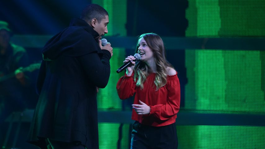 "Andreas Bourani und Kandidatin Eske, ""The Voice Kids"" 2019"