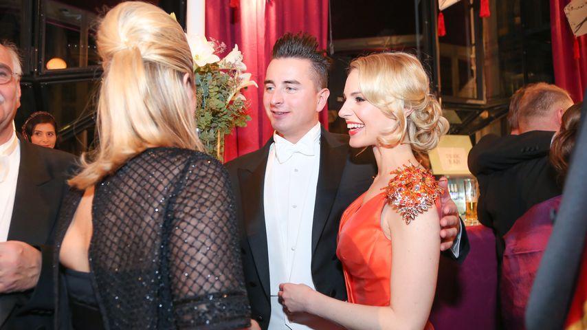 Andreas Gabalier und Silvias Schneider beim Wiener Opern Ball 2015