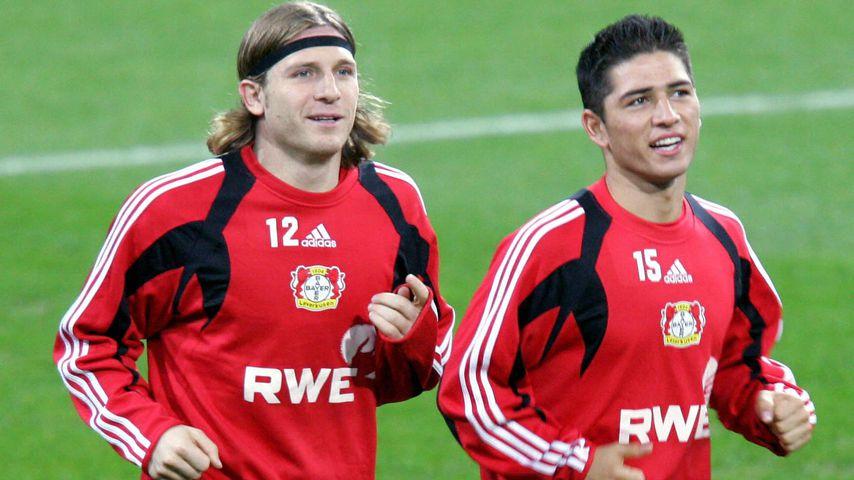 Andriy Voronin und Sezer Öztürk. ehemalige Bayer-Leverkusen-Spieler