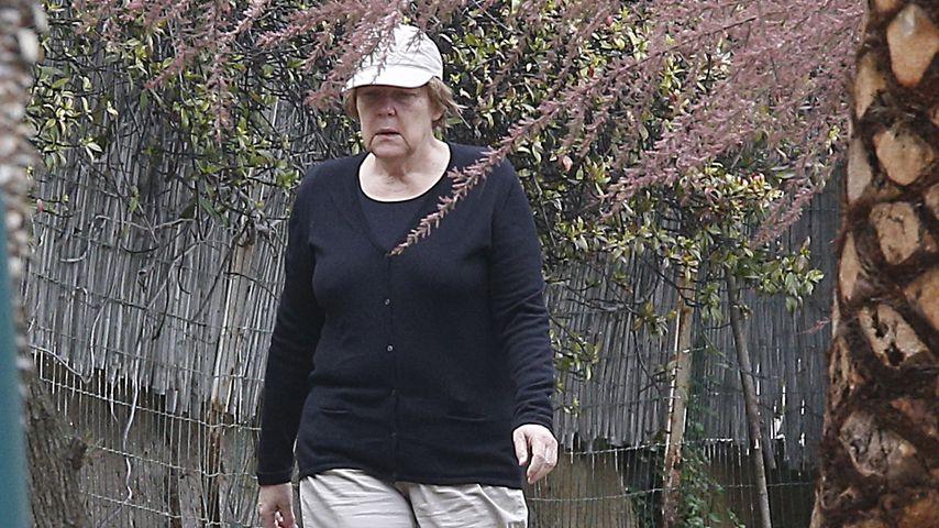 Unterm Blütenbaum: Hier relaxt Angela Merkel im Osterurlaub